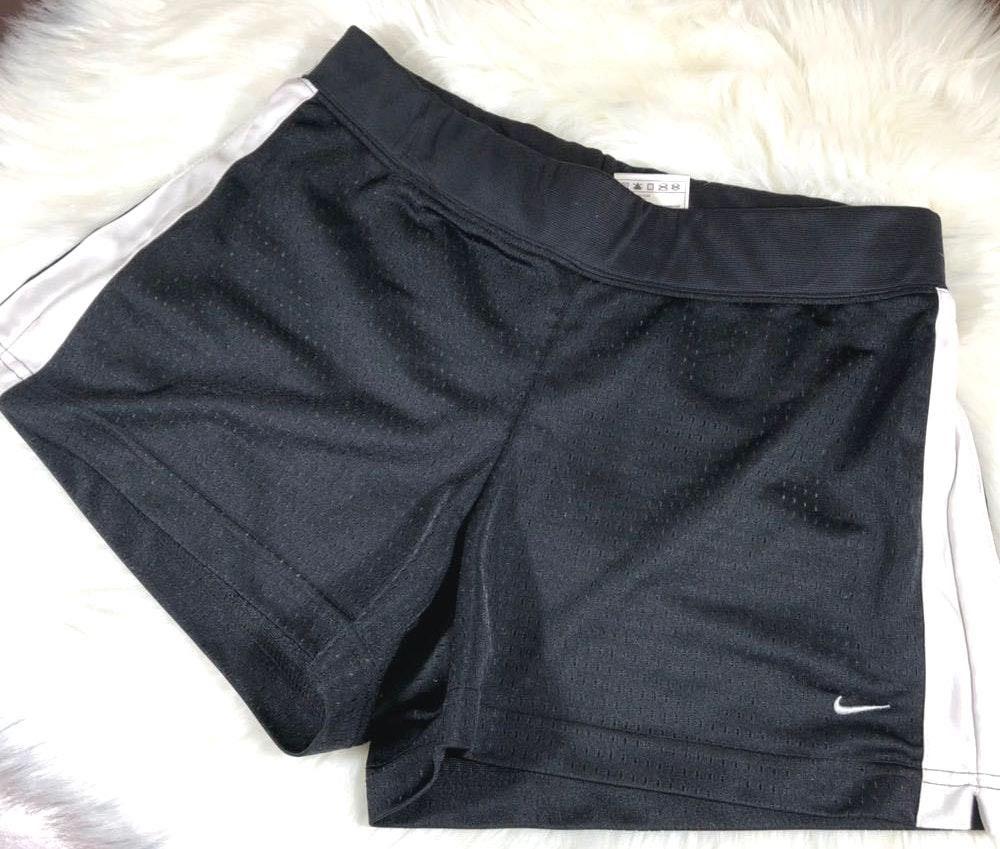 Nike Women's Black & White  Track Shorts