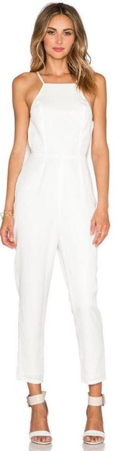 NBD White  Jumpsuit