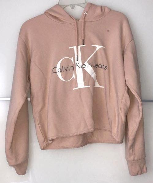 Calvin Klein Blush Crop Sweatshirt