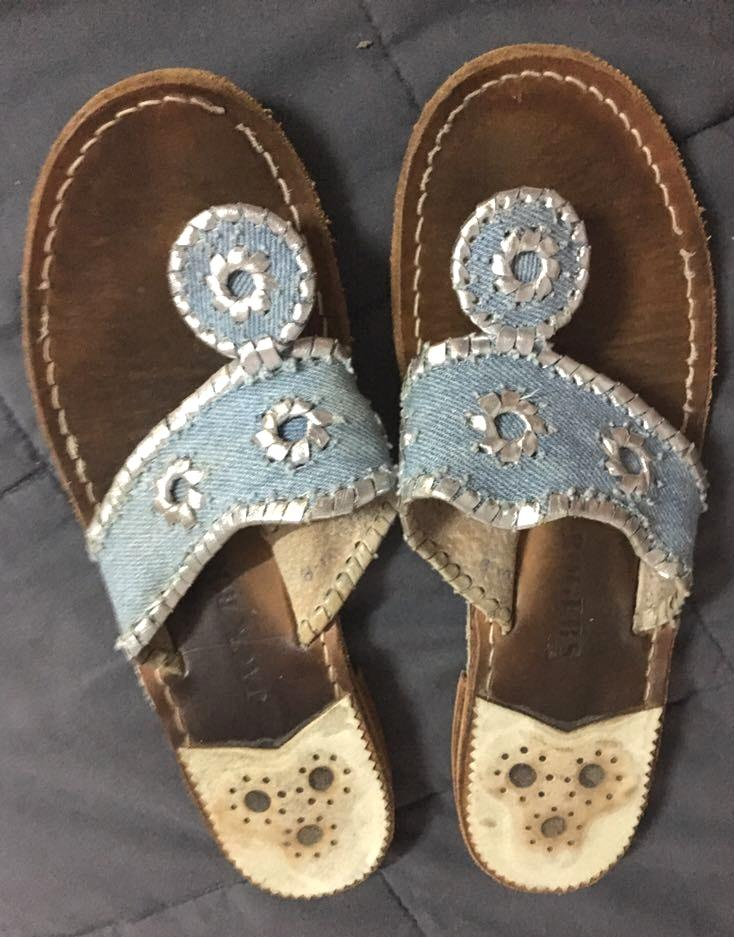 Jack Rogers Chambray & Silver