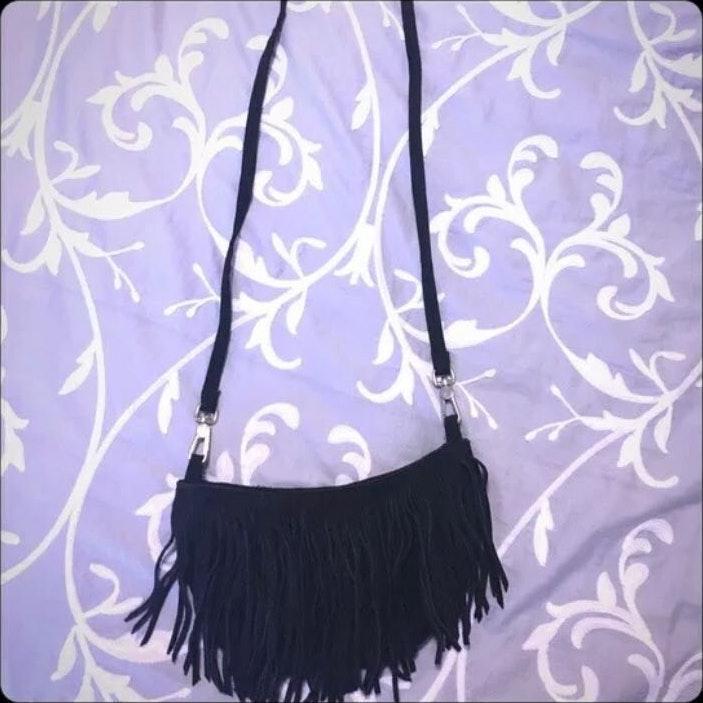 ac8ebed78226f Victoria's Secret PINK Fringe Crossbody Bag
