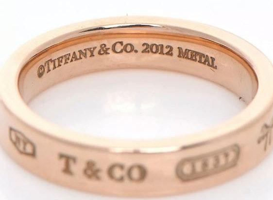 Tiffany & Co. Tiffany Narrow Ring in Rubedo metal size 9.5