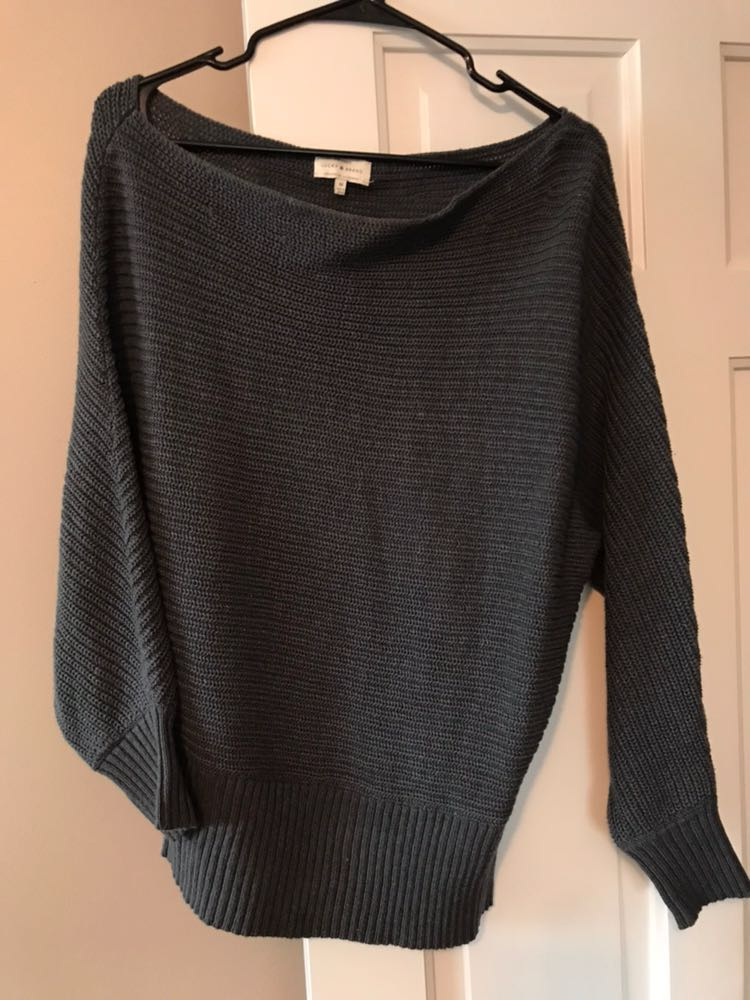 Lucky Brand Slouchy Grey Sweater