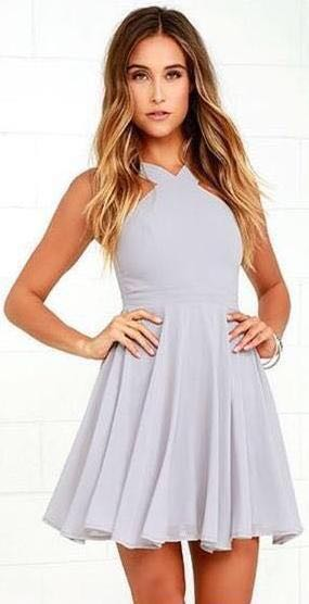 Lulus Gray/Purple Dress