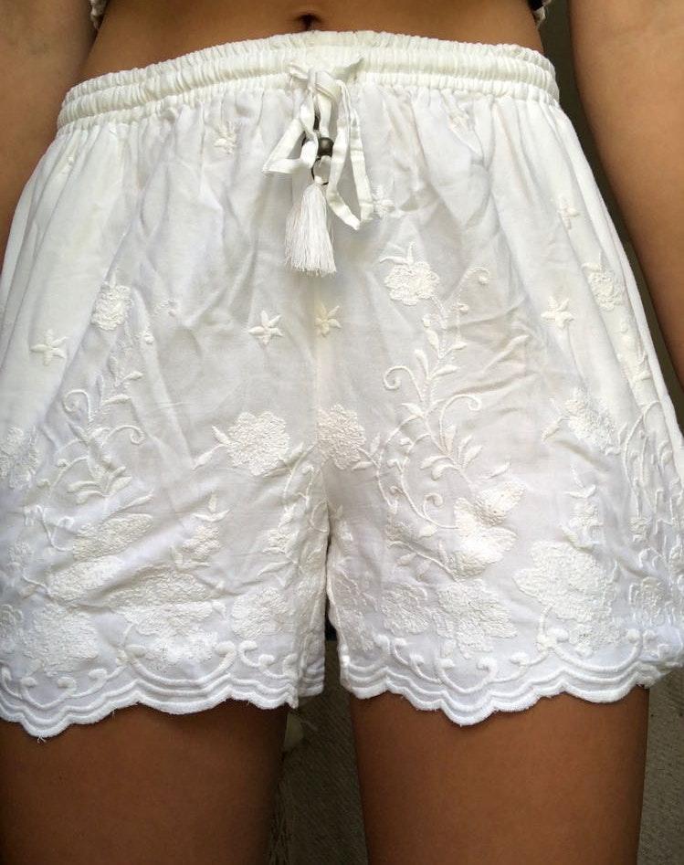 Blue Rain White Dressy Shorts