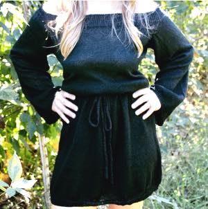 Umgee Black Sweater Dress