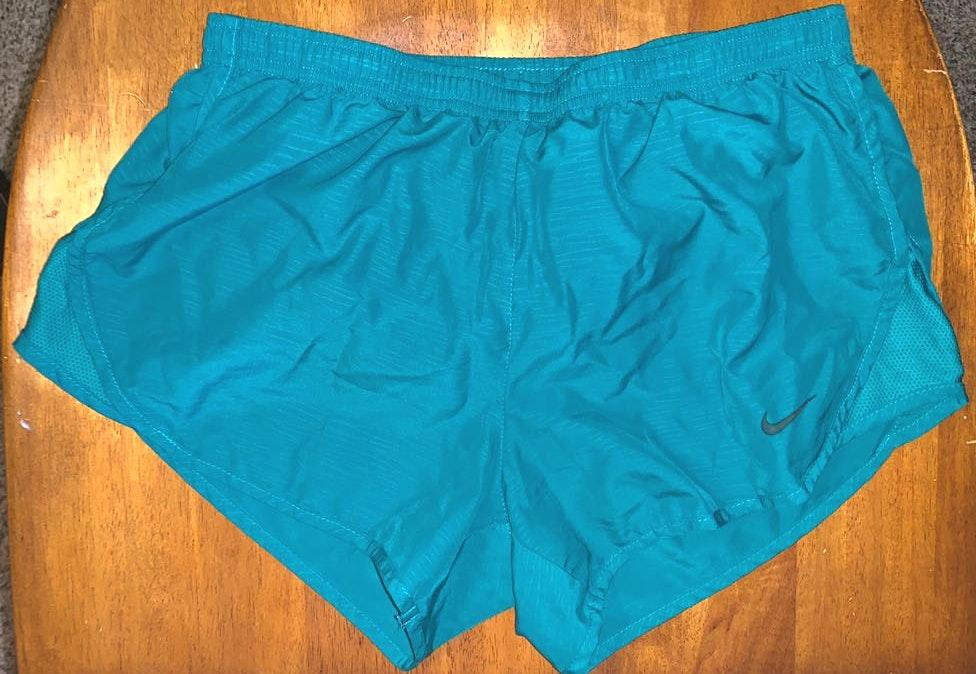 Nike teal women's running shorts