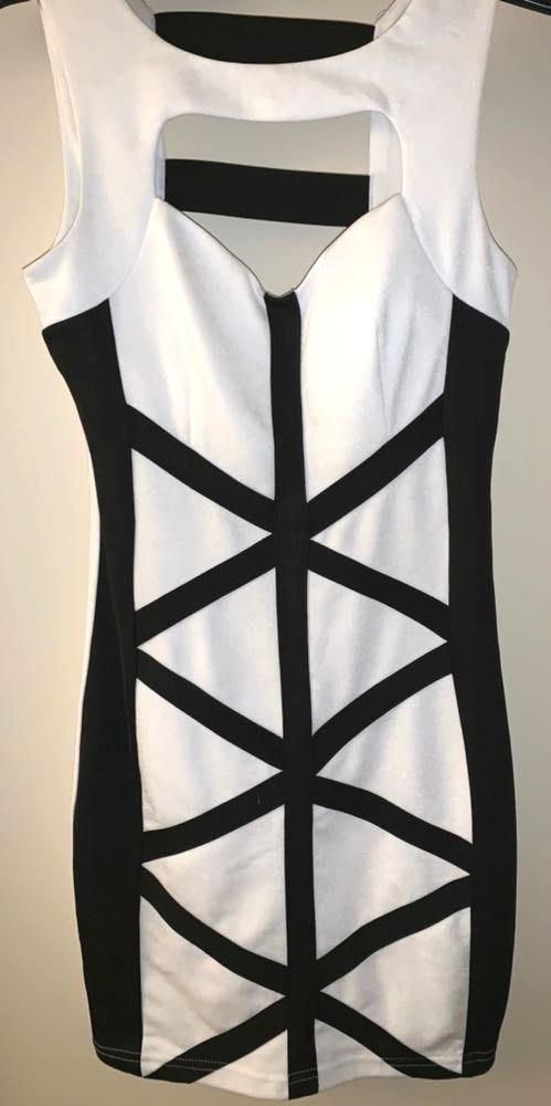 A'Gaci Sexy Black And White Agaci Dress