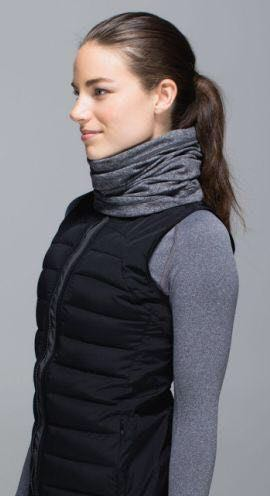 Lululemon Grey Runner's Neckwarmer
