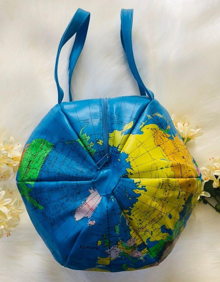 Awesome Unique World Globe Handbag Purse