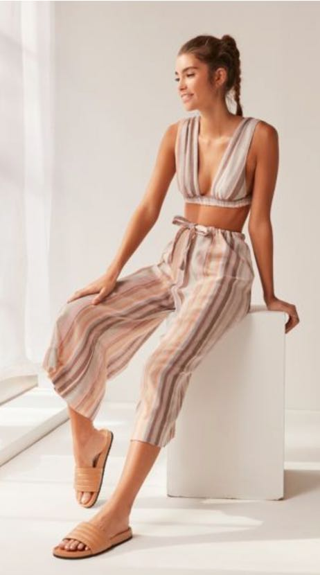 Urban Outfitters Two Piece Striped Set