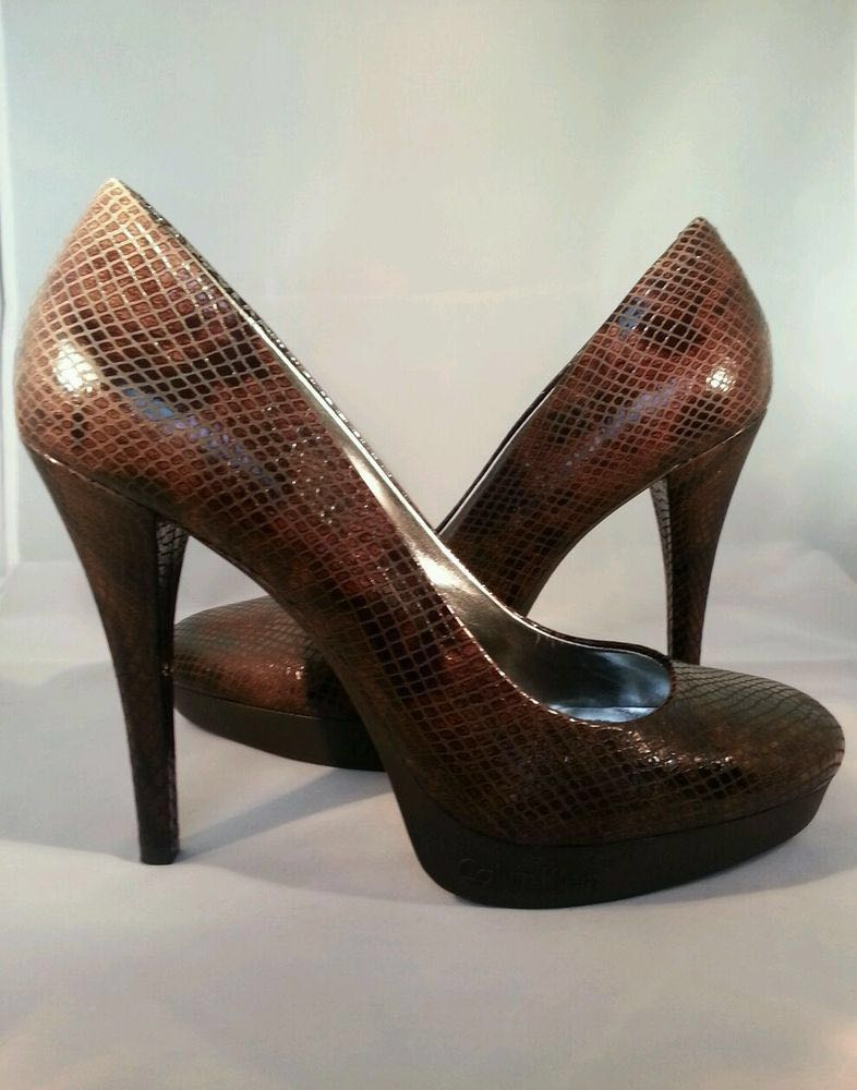 sports shoes 0d29a 4a745 Calvin Klein Embossed Faux Snakeskin Pumps