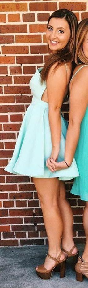 L'ATISTE Backless Mint/Light Blue Dress