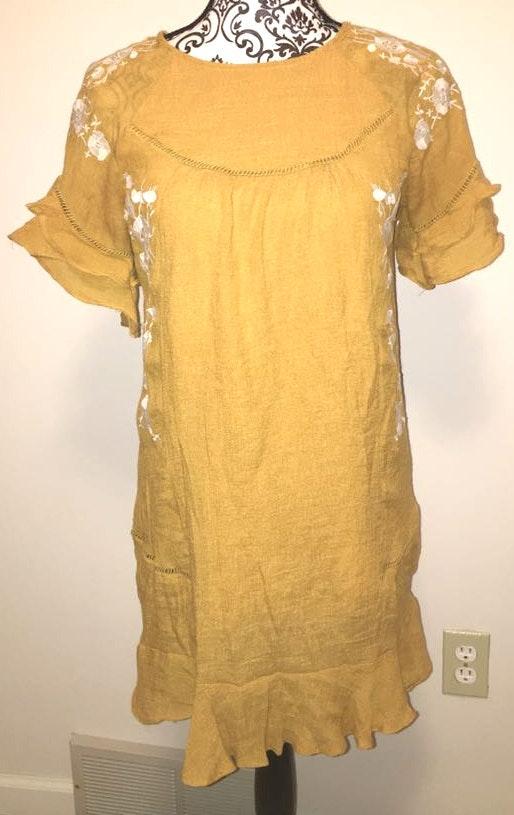 Women's Yellow Fashion Dress