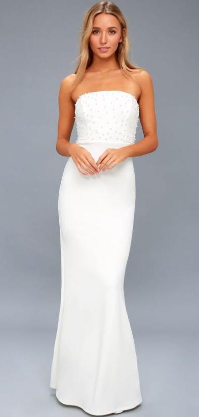 Lulus White Formal Dress