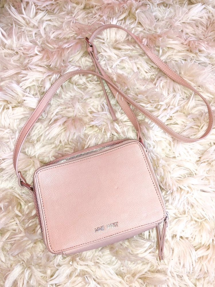 Nine West Baby Pink Purse with jewels