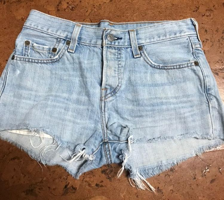 Levi's Light Wash Denim Shorts