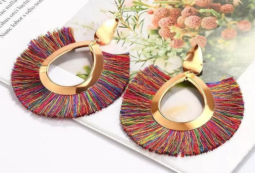 YouR Style- Tassel Statement Earrings Multi