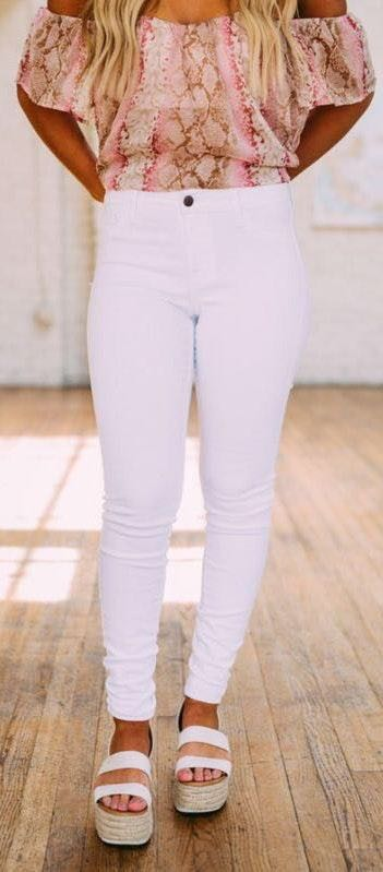 These Three Boutique White Jeans