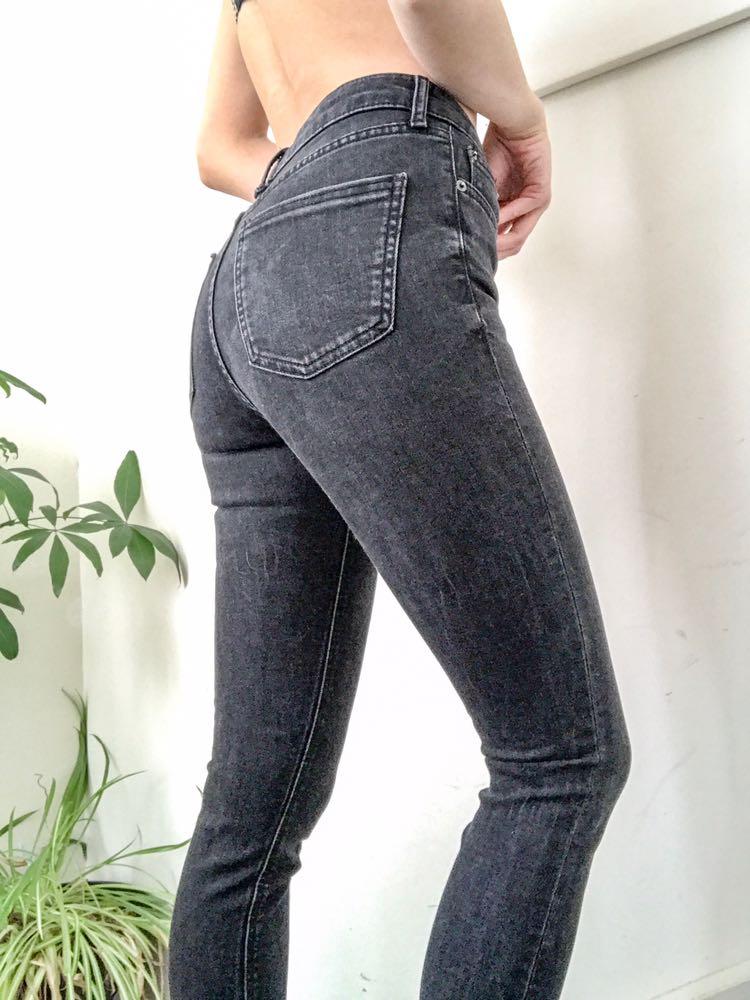 eb2866aa ZARA Black Skinny High Waisted Jean