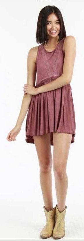 POL Babydoll Tank Dress