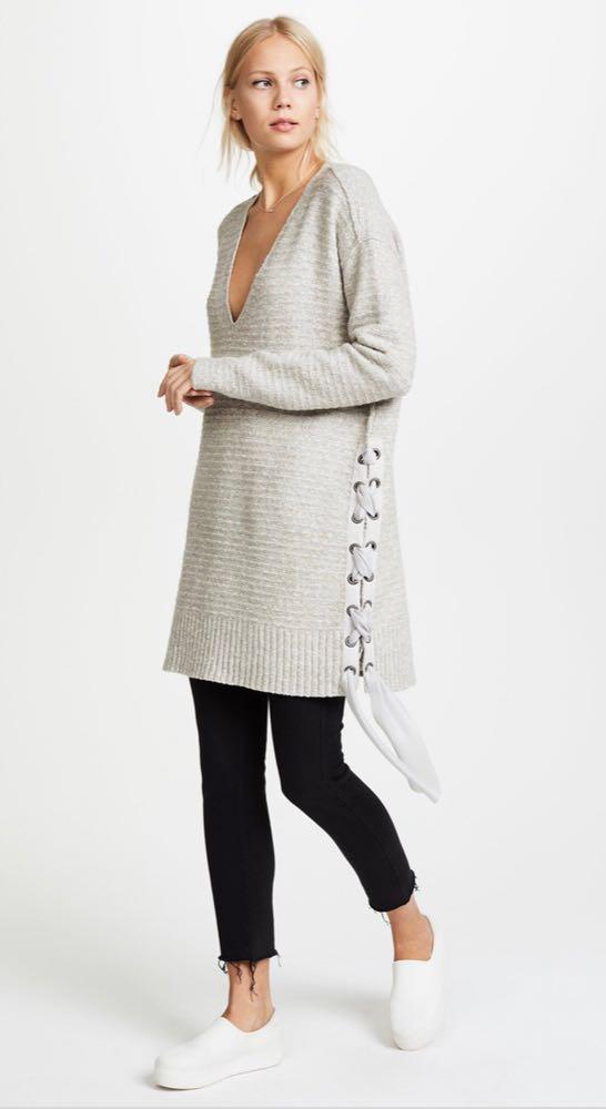 Free People Grey Long Sweater