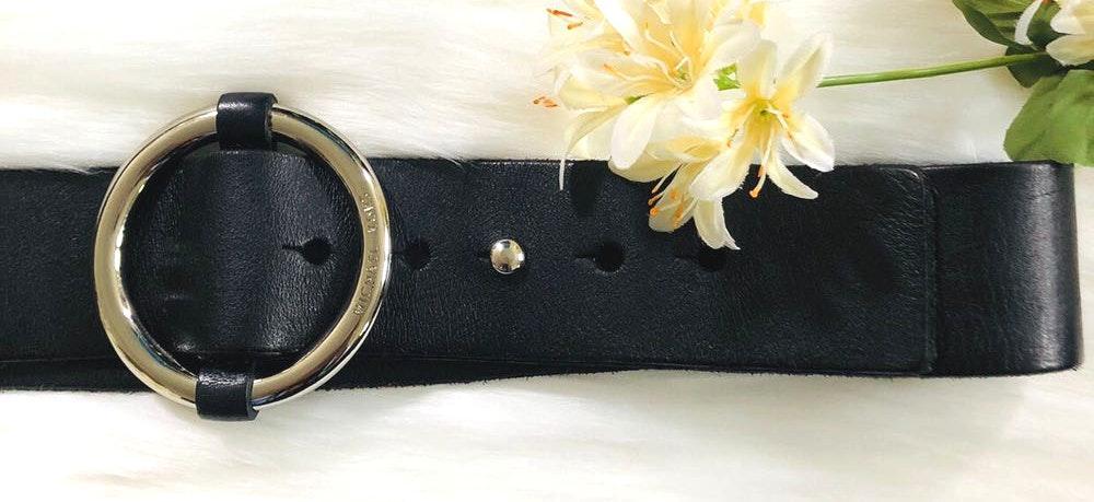 Michael Kors MK  round buckle belt size L