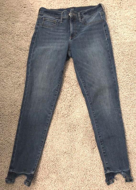 Gap Chewed Hem Jeans