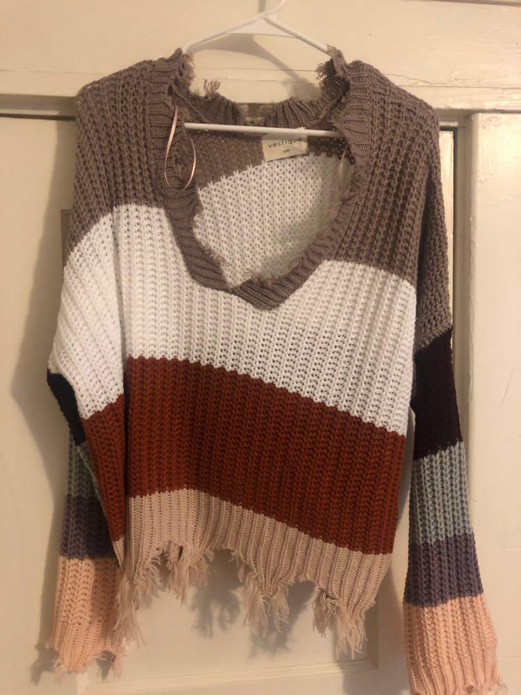 Vestique Sweater Color Block S/M