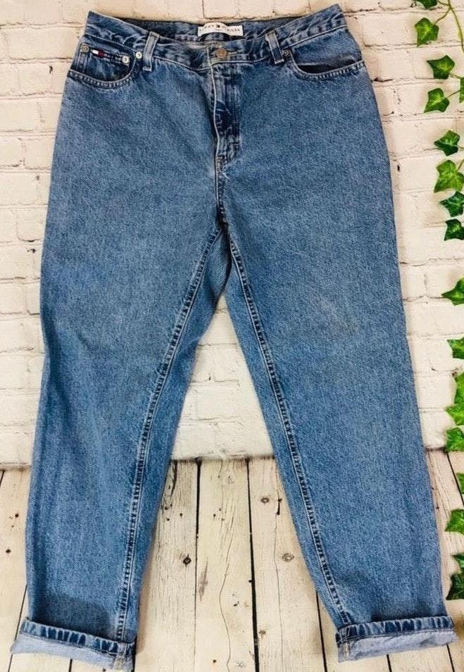 Tommy Hilfiger Vintage  High Rise Tapered Mom Jeans