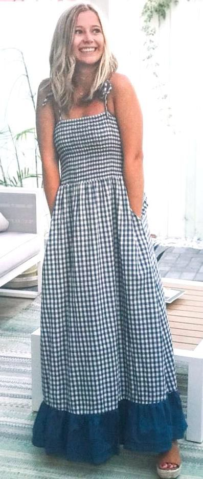 Boutique Gingham Maxi Dress