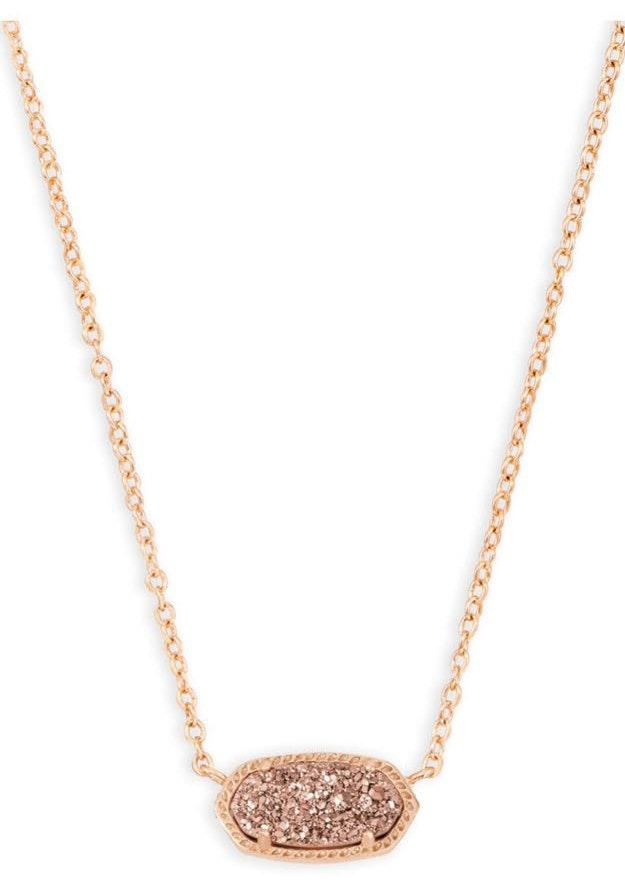 Kendra Scott elisa rose gold pendant necklace in rose gold
