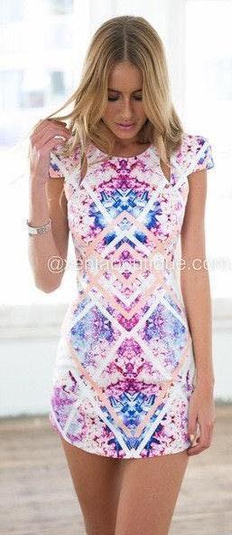 Xenia Zara Print Mini Dress