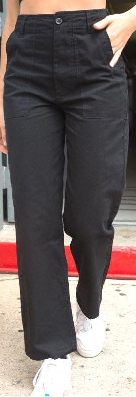 Brandy Melville Black Cargo Pants