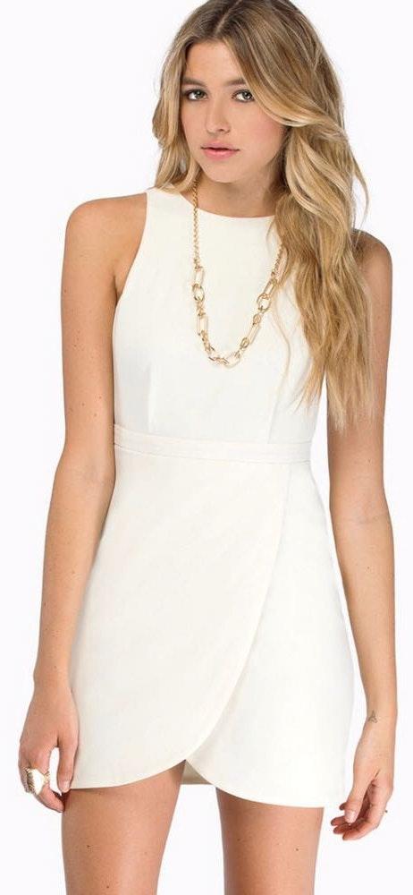 Tobi White Tulip Dress