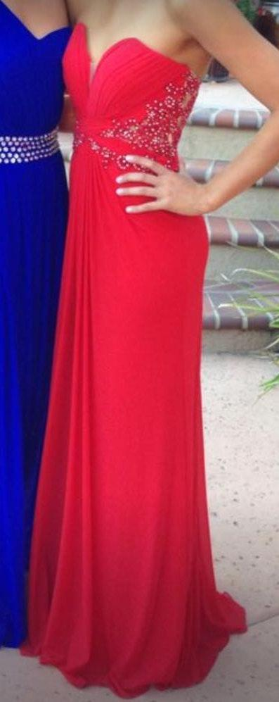 La Femme Red Prom Dress