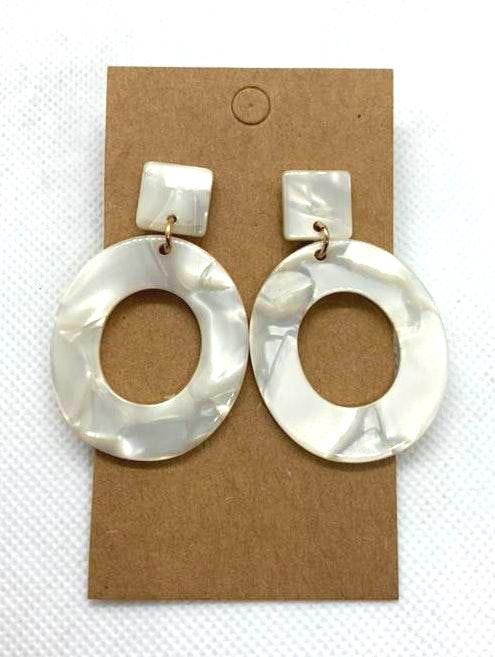 White Drop Boho Fashion Earrings