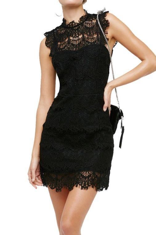 Free People Lace Daydream Bodycon Slip Dress