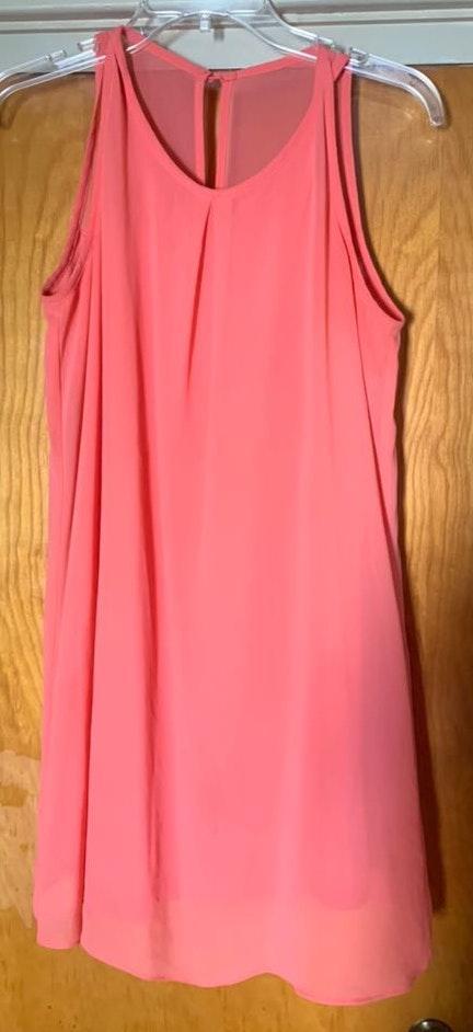 A Byer Coral Short Dress