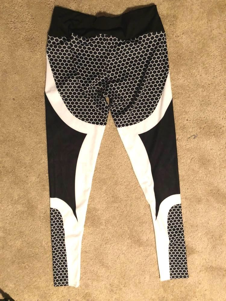 f2b195051d7 Finezza Black And White Leggings