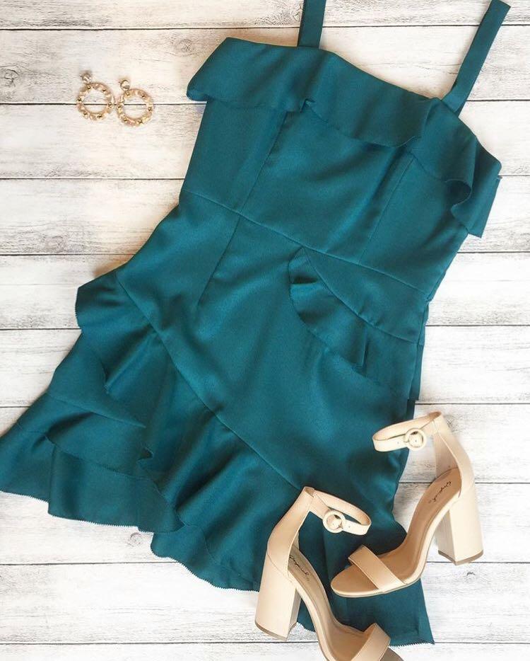 Minuet Green Cocktail Dress