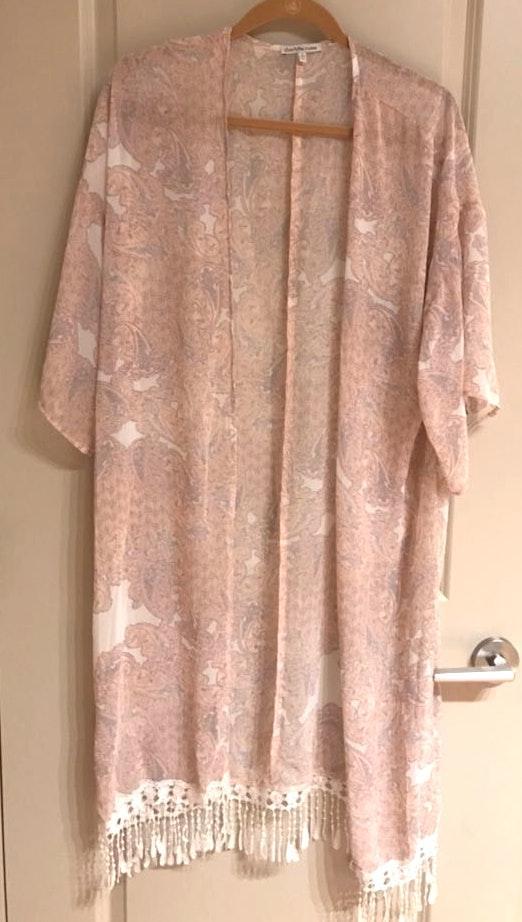 Charlotte Russe Light Pink Kimono