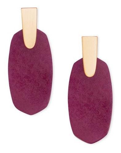 Kendra Scott Aragon Earrings In Berry Agate