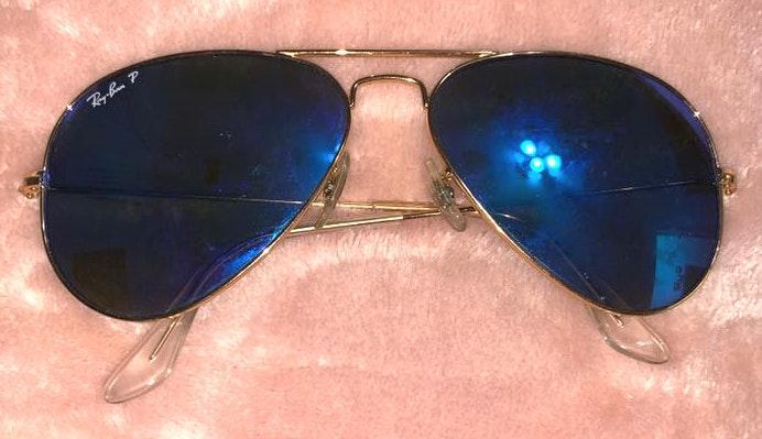 Ray-Ban Blue Aviator Reflective Raybans - Polarized