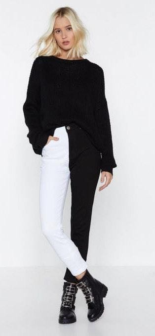 Nasty Gal Two Tone Jeans