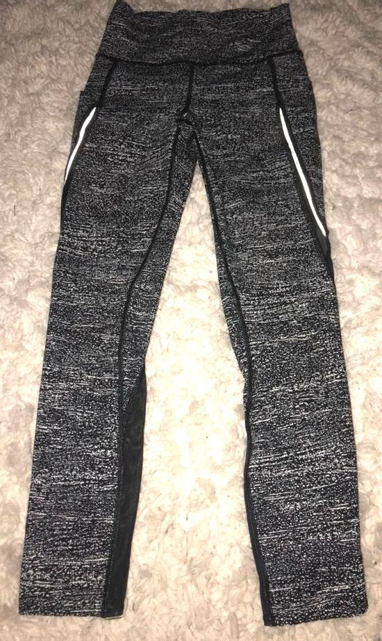 3e51bc9602f6e We're the buy/sell app for cute clothes. Say to being bored of your  clothes. Home Lululemon Black And White Patterned Leggings