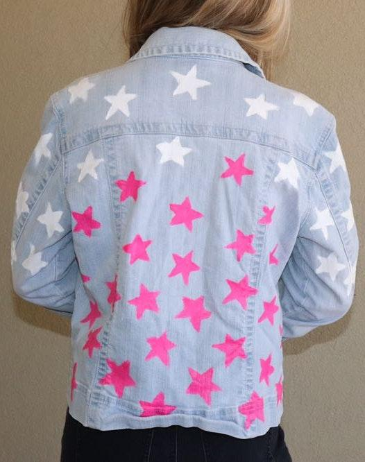 Pink Denim Stars Jacket