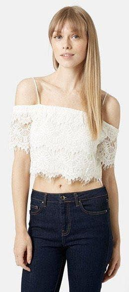 d12340319 We're the buy/sell app for cute clothes. Say to being bored of your  clothes. Home Topshop Lace Crop Top