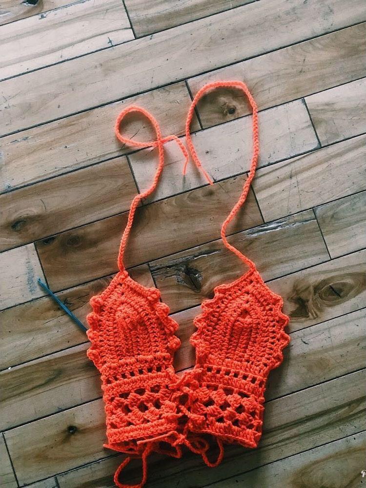 Handmade Women's Crochet Bralett Top All Sizes