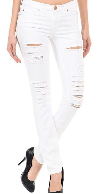 Angry Rabbit Distressed White jeans
